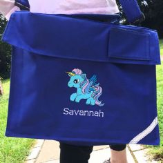 Personalised UNICORN Horse School Book Bag